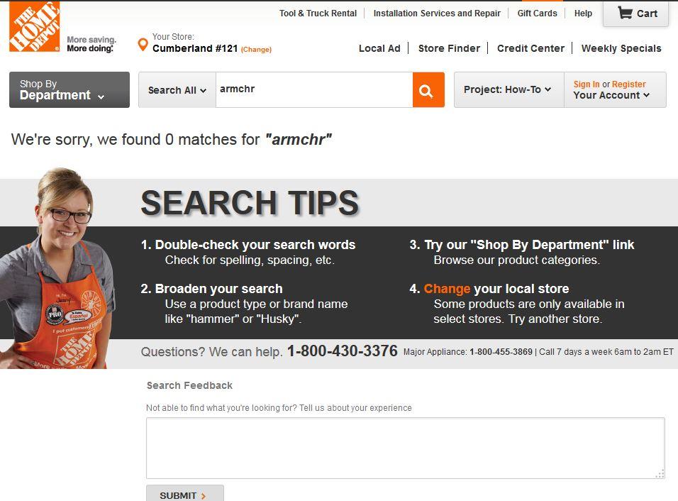 Page 0 résultat Home Depot